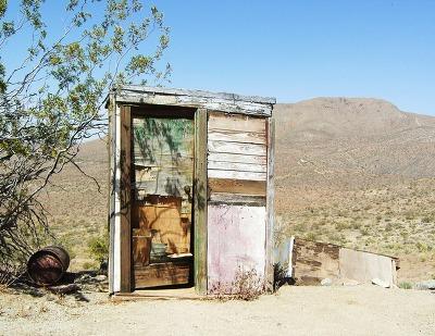 모하비 사막 화장실
