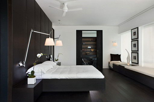 for Minimalist black and white bedroom