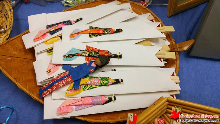 캐나다 일본 벼룩시장 플리마켓 기모노 젓가락 집