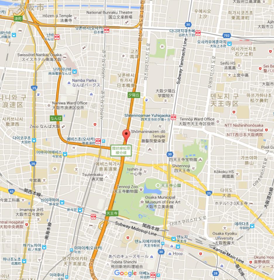 No.52 오사카 호텔식 임대하우스:Namba East-B(難波東‐B)/ 1K /23.07㎡ / 4,290 円~3,490 円