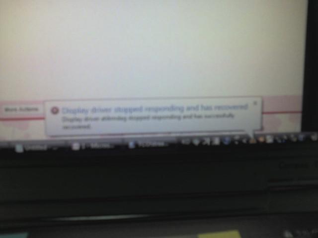 HP Compaq 8510p BSOD 직전