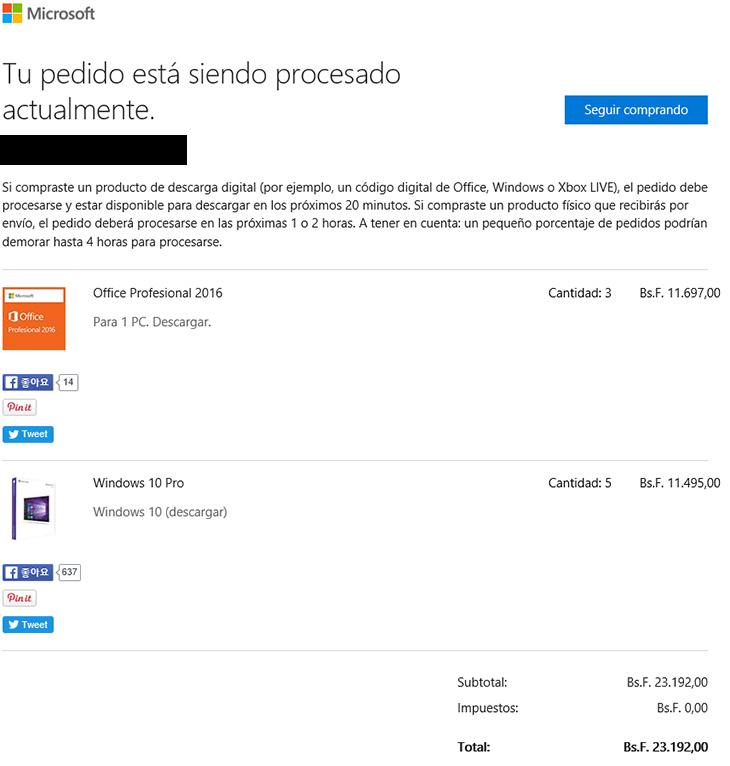 베네수엘라, MS스토어, 윈도우10 Pro ,오피스2016, 저렴하게, 구매,IT,IT 인터넷,크리스마스를 앞두고 이벤트 한것일까요. 어제 난리가 났었는데요. 베네수엘라 MS스토어 윈도우10 Pro 오피스2016 저렴하게 구매를 해 봤습니다. 보류중으로 뜨는 문제가 있었는데 아침에 확인해보니 다행히 구매가 되어있었고 정품인증도 되네요. 그전에도 있었죠. 베네수엘라 MS스토어 윈도우10 Pro 오피스2016 저렴하게 구매 하는 방법을 적어둘테니 다음에도 또 만약 이런 말도 안되는 이벤트가 벌어지면 빠르게 필요한만큼만 해보죠.