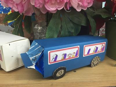 우유팩 버스 만들기