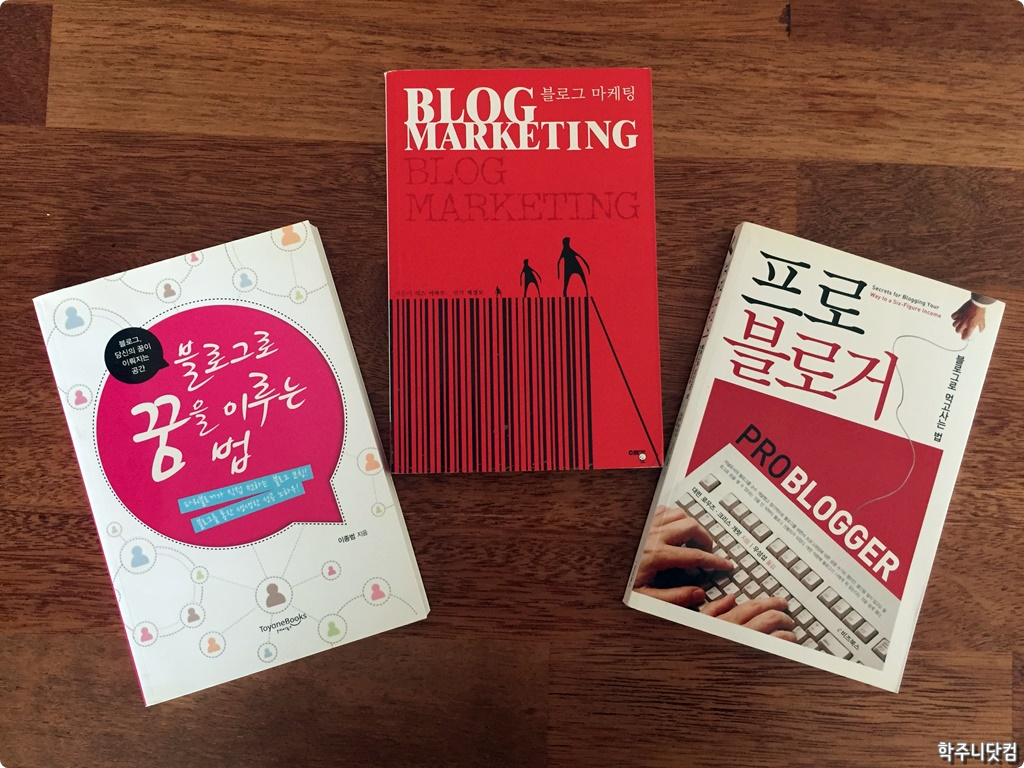 옛날 블로그 전성시대 때를 추억할 수 있는 추억의 블로그 관련 책 이야기