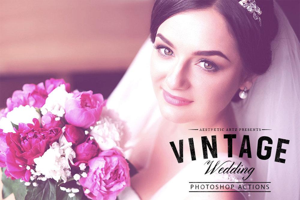 15 가지 빈티지 웨딩(vintage wedding) 포토샵 액션 - 15 Free Vintage Wedding Photoshop Actions