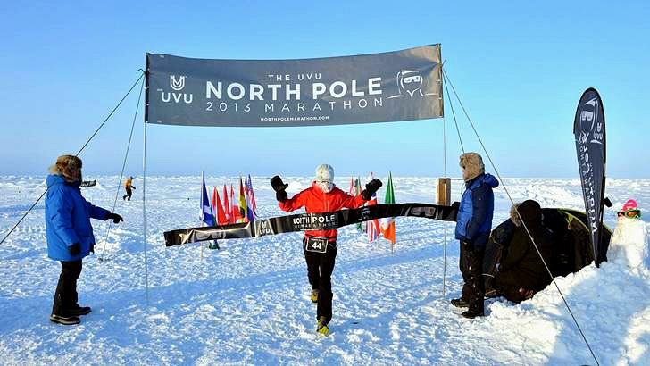 북극 마라톤 모습입니다