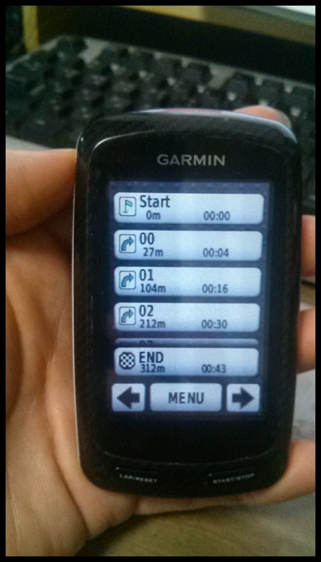 GPS ON시 웨이포인트 정보 표시