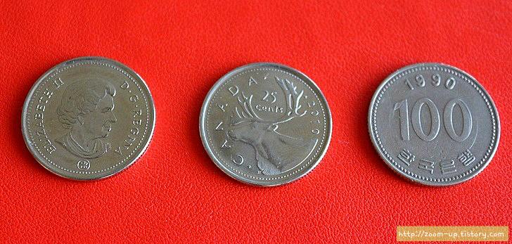 캐나다 역사와 동전 이야기 : 25센트 쿼터