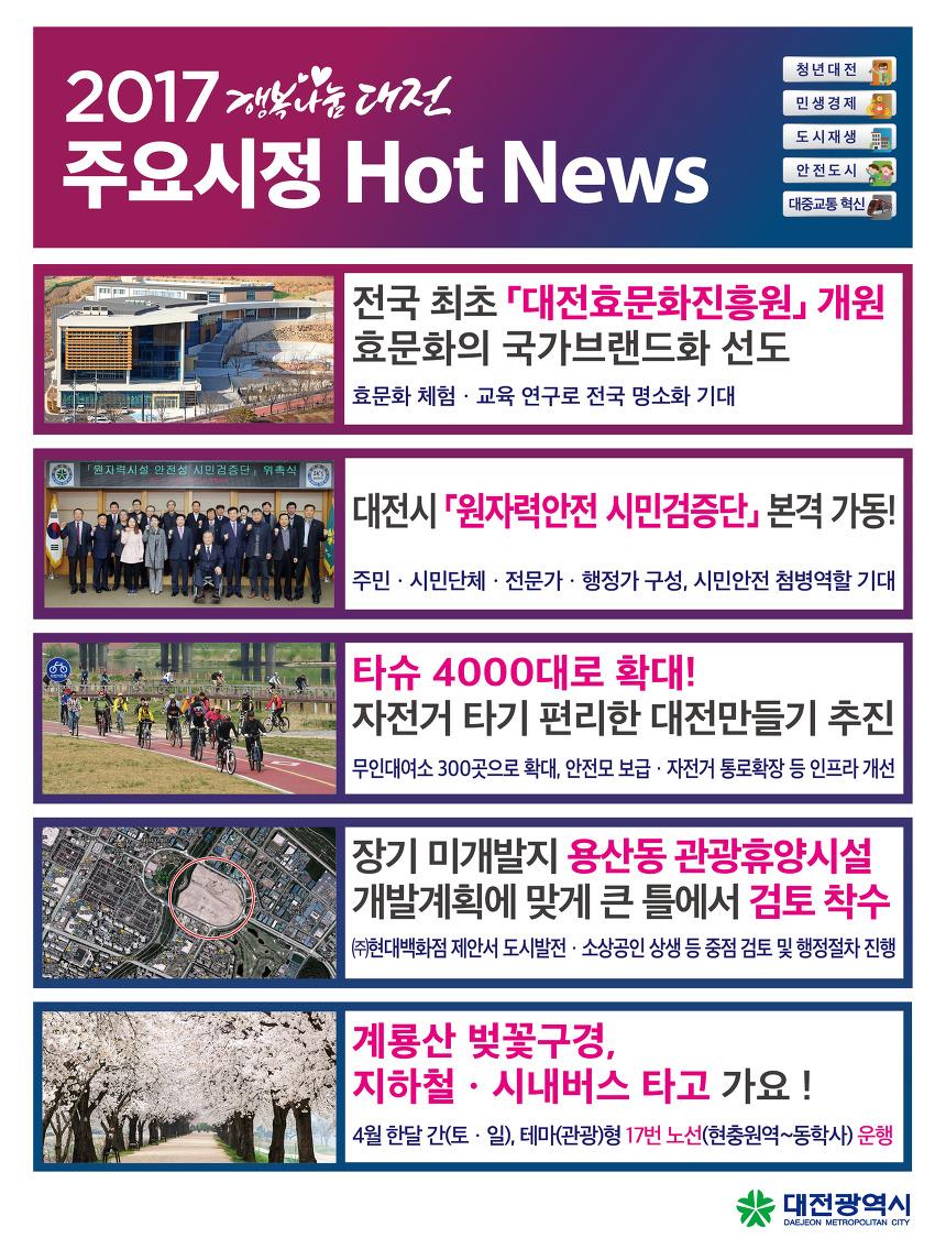2017.3월 4주차 대전시정 핫뉴스