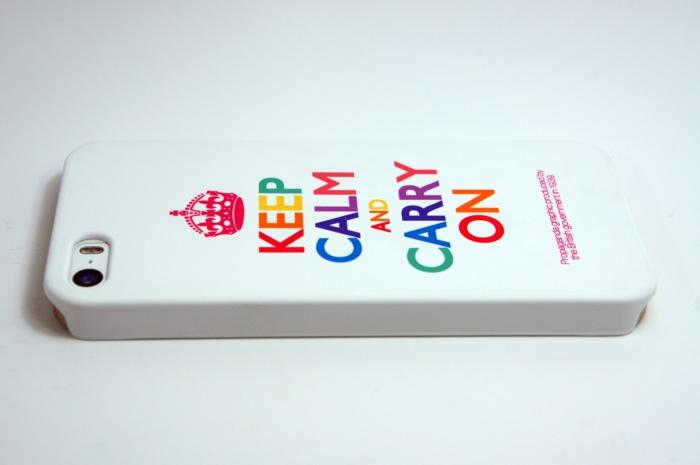 아이폰5S 케이스 추천 'KEEP CALM AND CARRY ON'