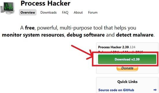 프로세스 해커 (Process Hacker)