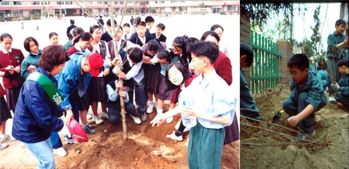 2001년 신양중 나무심기