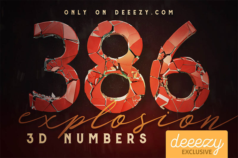 Explosion 3D Numbers
