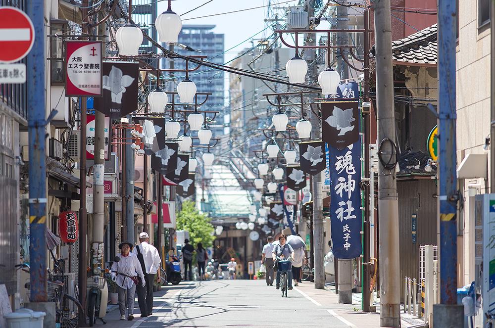 오사카 골목 여행, 가라호리 거리 상점가