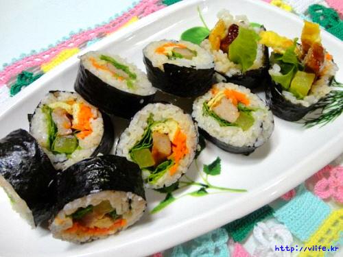 햄버거스테이크 김밥