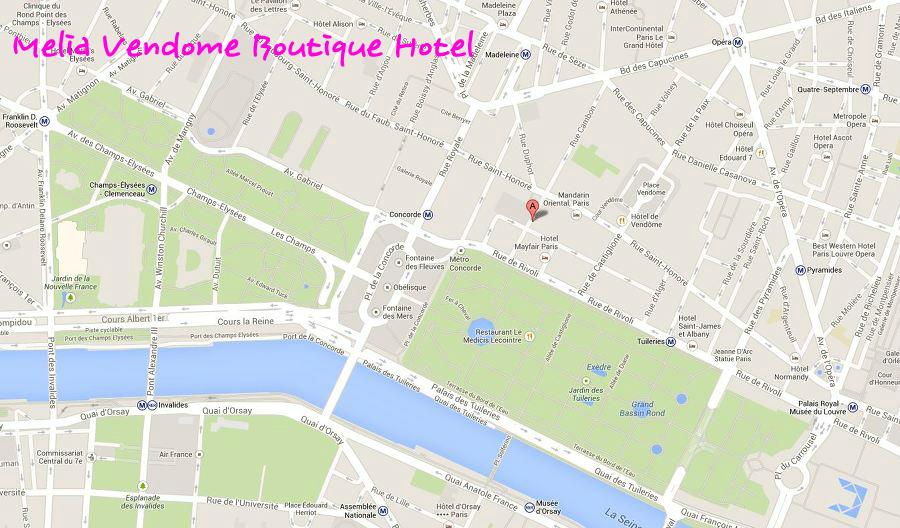 One step ahead melia vendome boutique hotel for Melia vendome boutique hotel 8 rue cambon 75001 paris