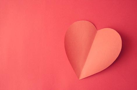 종이 접기 하트 심장 배경 모양 연인 색종이 레드 붉은 사랑 카드 벽지 붙이기 - 무료이미지