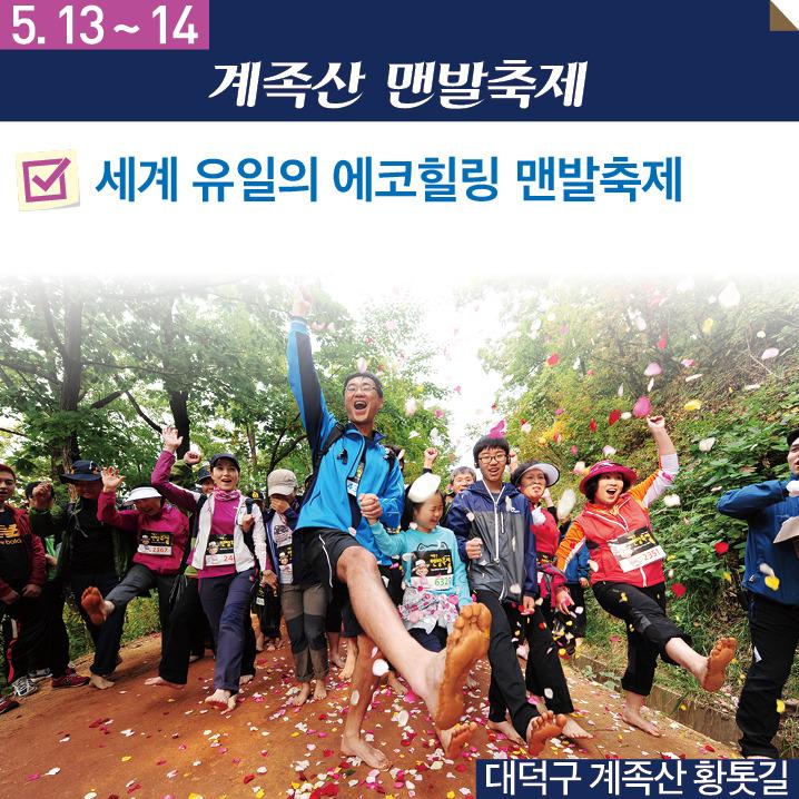 2017 5월 대전축제 계족산맨발축제