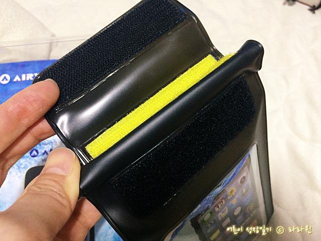 에어워크 휴대폰 방수팩 방수테스트