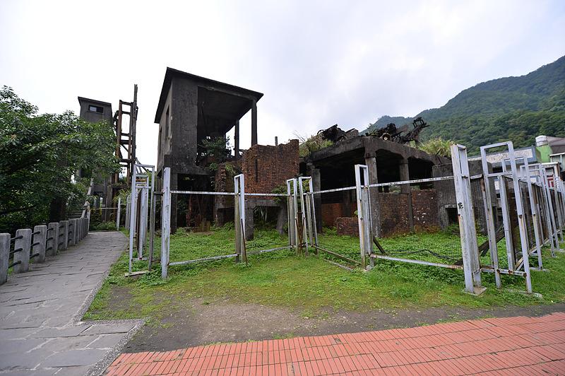 허우통 옛 광산 폐허가 되었다.