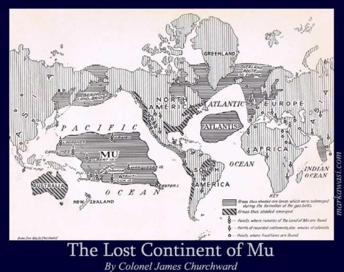 lost Continent of Mu, Atlantis