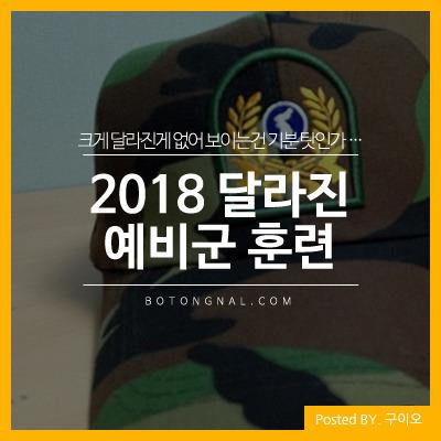 예비군 훈련 시작, 2018년에는 어떤 것이 달라졌을까?