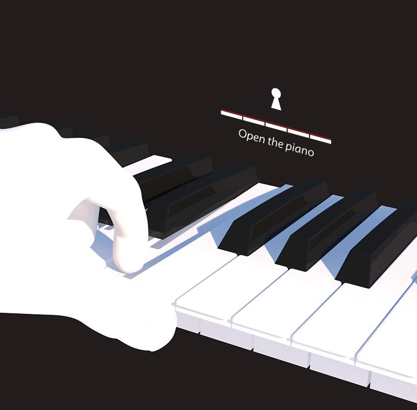 피아노 로고 3D 합성