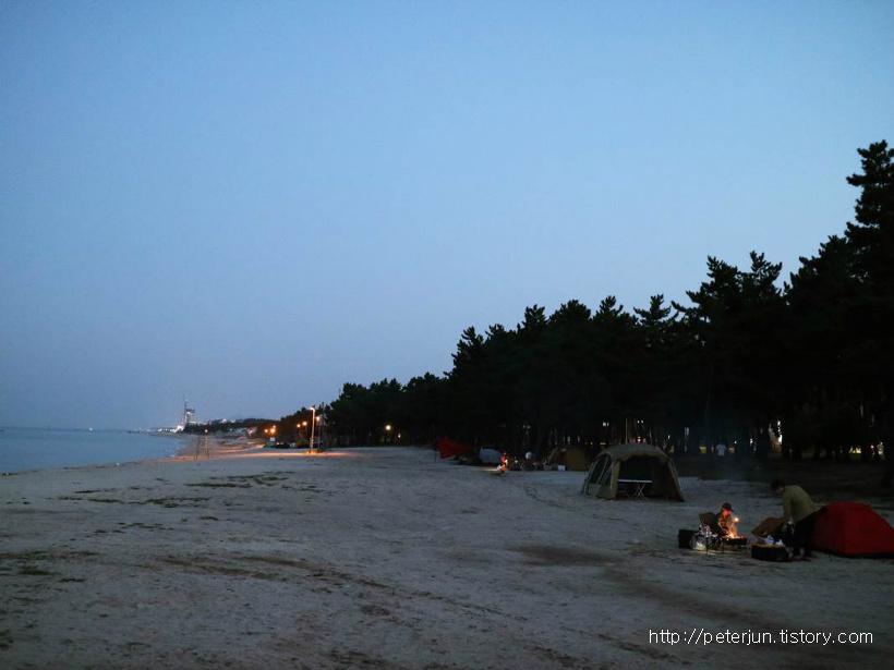 사천해변 캠핑