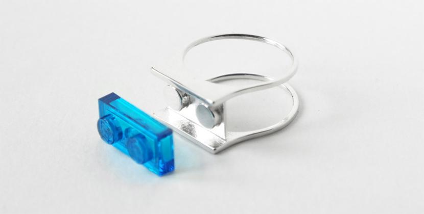 레고logo로 보석을 표현하는 반지