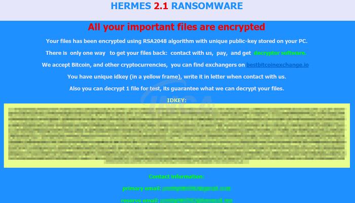 [그림 3] Hermes 2.1 버전 랜섬노트