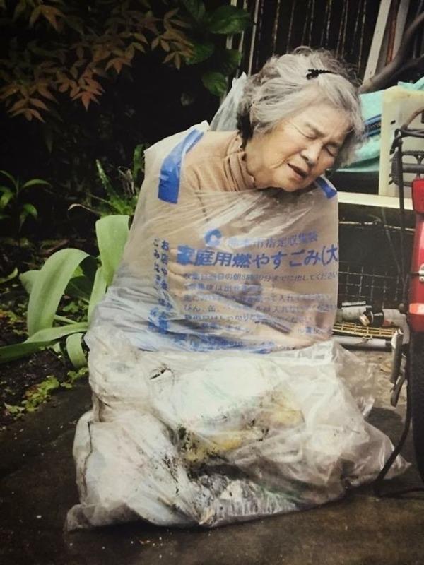 일본의 엽기 사진 전문 할머니10