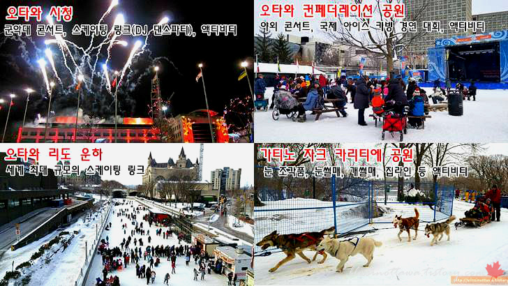 캐나다 오타와 겨울 축제입니다