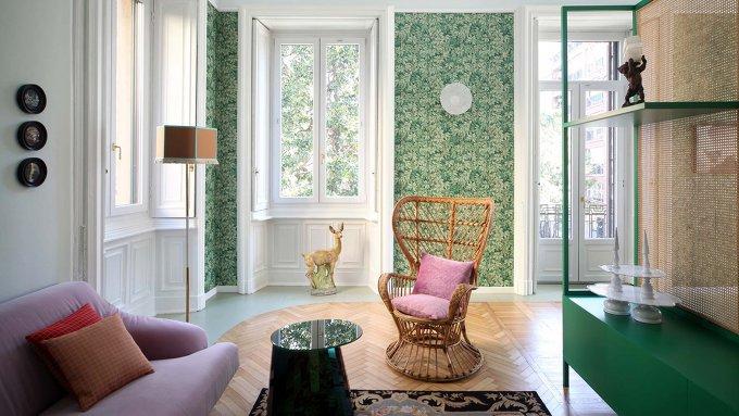 *대담한 색채로 복고와 조화를 이룬 밀라노 아파트개조-[ Marcante-Testa ] 'Le Temps Retrouvé' Residence in Milan