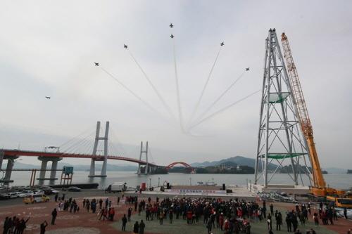 평창동계올림픽 성화봉송 환영 공연 펼쳐