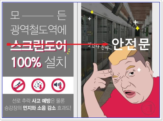 모든 광역철도역에는 안전문 100% 설치