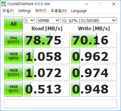 Seagate ST9640320AS 640GB CrystalDiskMark
