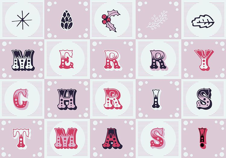 디자이너를 위한 크리스마스 무료 템플릿 로고 패턴등 45개모음